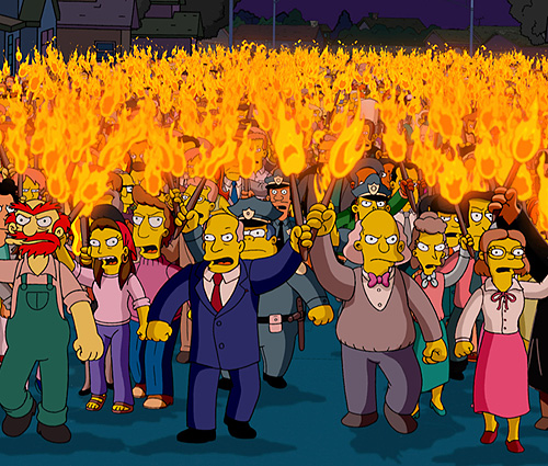 simpsons_torch_mob