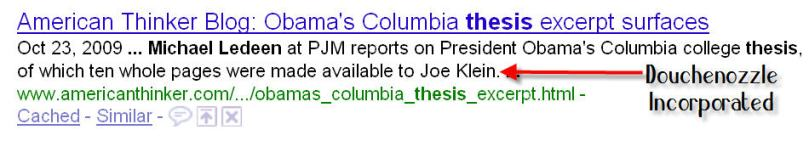 joe klien obama thesis Right-wing media figures trumpeted a blogger's fake report that in a college thesis -- which the post's author claimed was obtained by time's joe klein.