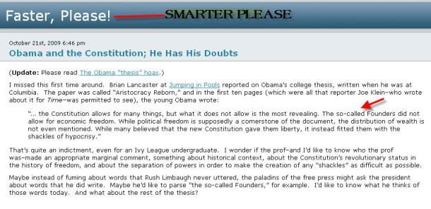 joe klein obama thesis
