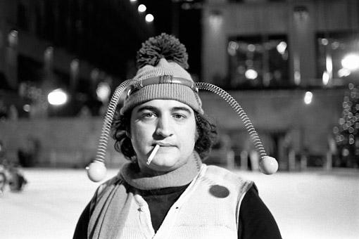 John Belushi as Bumble Bee at Skating Rink